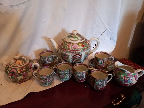 Serviço de café porcelana chinesa Mandarim