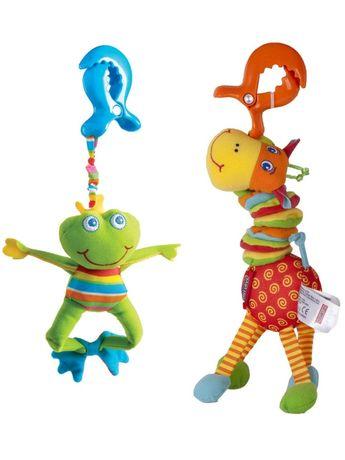 Игрушки с вибрацией Tiny Love Жираф Лягушонок подвески на коляску