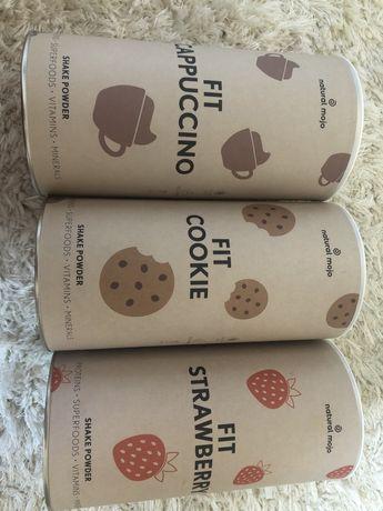 Natural mojo cappucino cookie strawberry shake