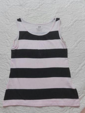 śliczna koszulka basic H&M jak nowa dziewczeca roz 134/140 ,