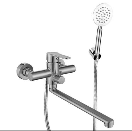 Смеситель для ванной Нерж. картридж 35мм  VA7008B