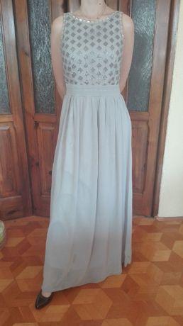 Suknia na studniówkę, wesele, popielata