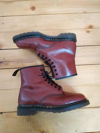 Dr. Martens 1460, made in England, cherry red