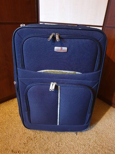 Синий чемодан на колесах Jade Design тканевой Испания