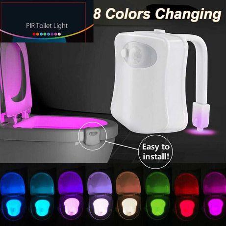 Luz noturna para assento sanita, c/sensor movimento , à prova d'água