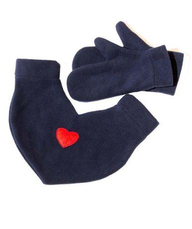 Варежки для влюбленных с сердцем подарок валентинка