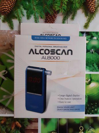 Новый полупрофессиональный алкотестер Alcoscan AL8000 с гарантией