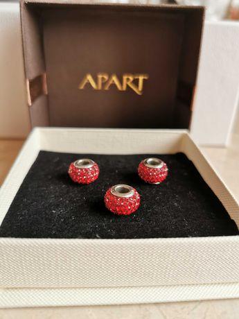 Apart zawieszka beads charms czerwone kryształy