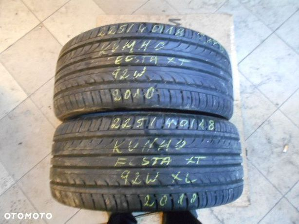 Opony 225/40r18 kumho ecsta xt xl 7,5mm lato para
