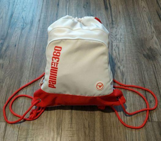 Plecak worek PANINI FIT 360 biały biało czerwony barwy narodowe
