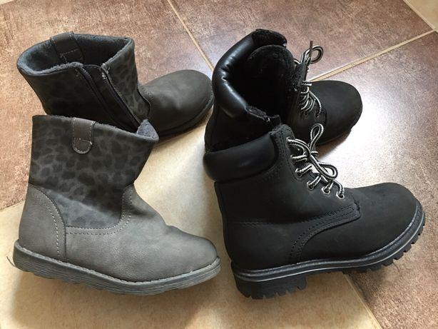 Buty jesień zima roz. 29 30 ocieplane 17 cm 18 cm