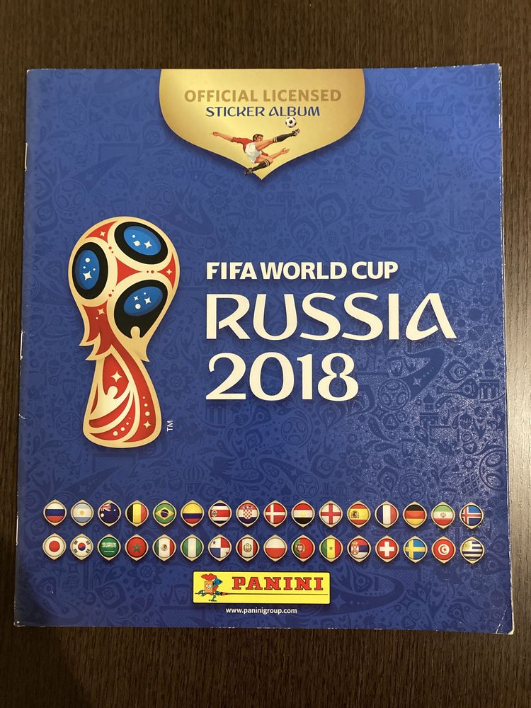 Caderneta Panini FIFA World Cup Russia 2018