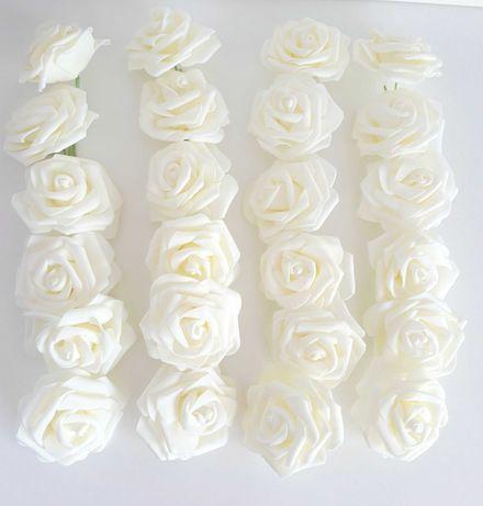 Białe sztuczne róże