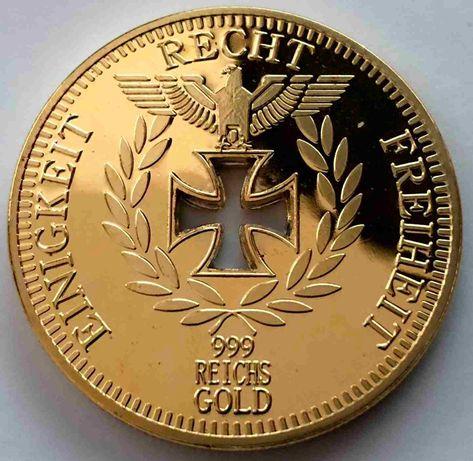 Moeda banhada a ouro Reichsbank Recht