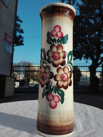 Wazon ręcznie malowany Koło design lat 60-tych