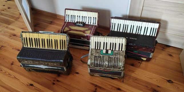 Akordeony m.in. Hohner, Continental