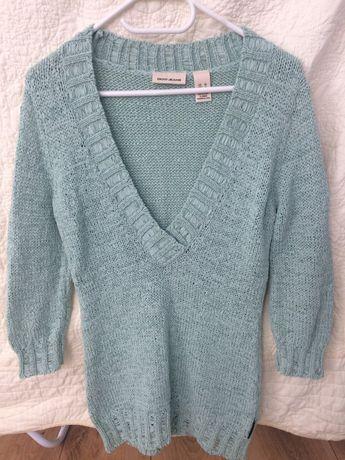 DKNY sweterek rozm M, zielony/mietowy