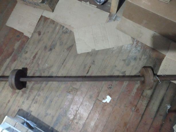 Штанга бу с разборным грифом 30-35 кг