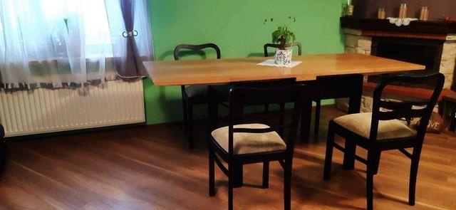 Stół i 4 krzesła po renowacji