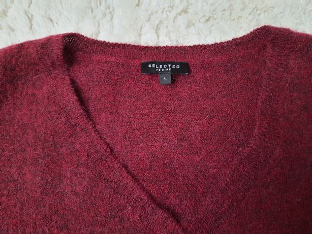 Sweter Selected Femme, r.duże L, 74% wełny, NOWY