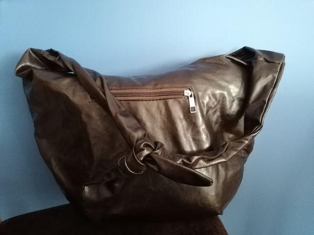Duża pojemna torebka worek