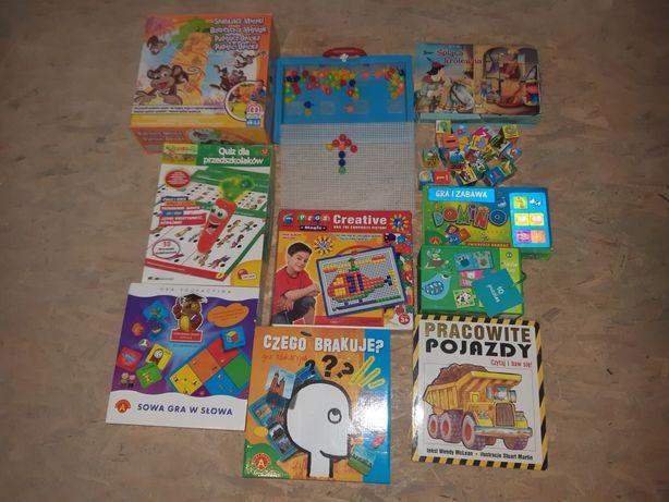 Zestaw gier i układanek edukacyjnych dla dzieci