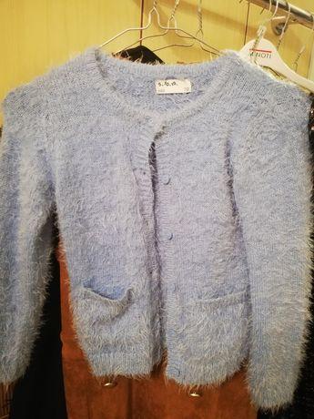 Niebieski sweterek 5.10.15 mocher r.110
