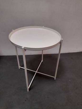 Stolik, okrągły, biały