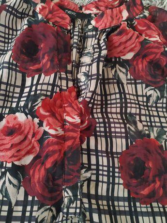 Bluzka r. 44, UK 18, róże