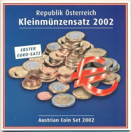 Carteira Oficial EURO SET Austria 2002 BNC
