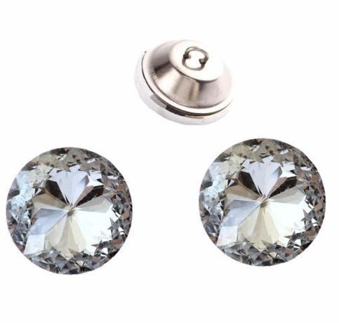 Guziki kryształowe kryształki 25 mm 110 szt