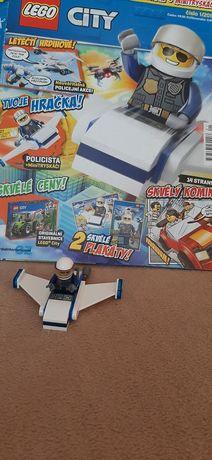 Lego city Поліцейський літак+журнал