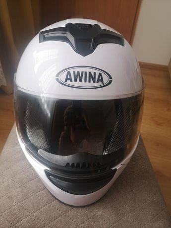 Kask motocyklowy Awina S biały