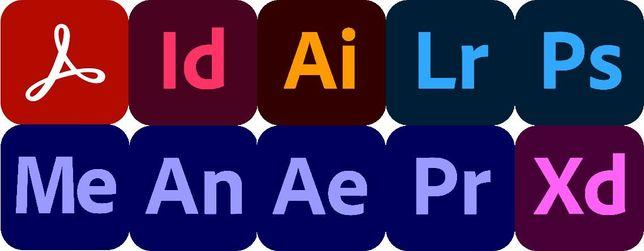 Adobe pakiet 10 programów (photoshop, premiere pro, lightroom itp)