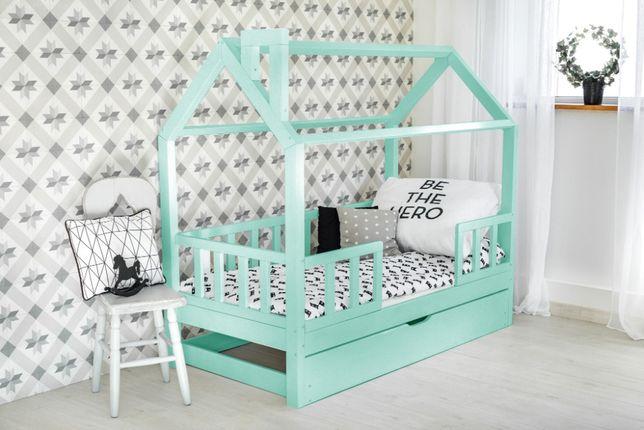 Nowe łózko domek skandynawski , łóżko dziecięce , drewniane