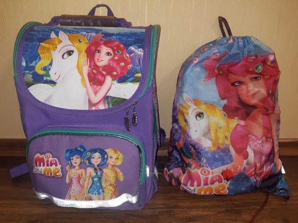 Школьный рюкзак + сумка тм Kite для девочки с 1 по 4 классы.