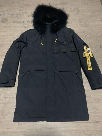 OFF WHITE парка аляска куртка пальто зима удлинненое натур мех в налич