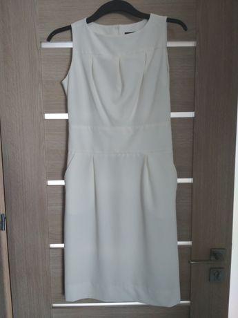 Sukienka ECHO 38 beżowa kremowa
