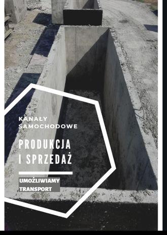 Kanał samochodowy betonowy wodoszczelny-W8. -Cała Polska