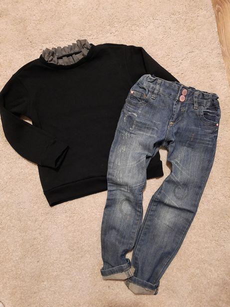 Bluza Reserved + spodnie DenimCo r.116