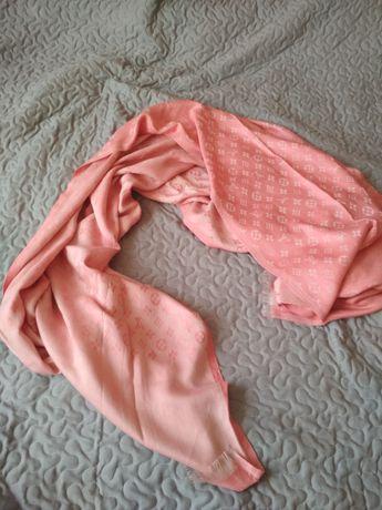 Chusta szal Louis Vuitton różowa. Nowa