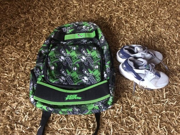 Buty Nike .34 wkł.21.5+plecak no fear+kalosze
