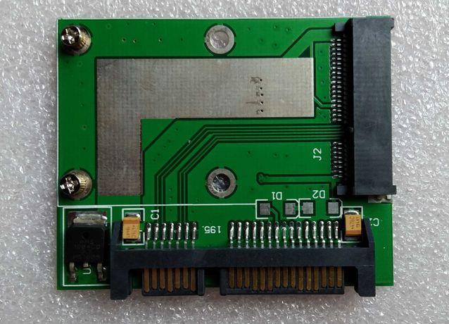 Переходник c mSATA на SATA для SSD.
