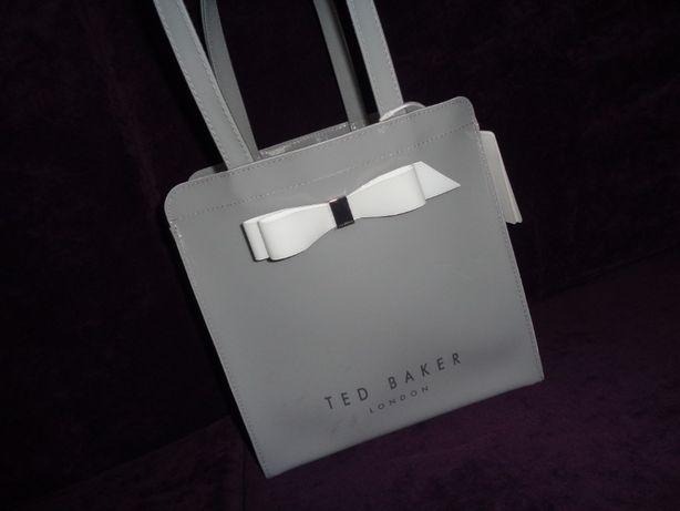 TED BAKER London 100% oryginalna ICON szara gray torba torebka NOWA
