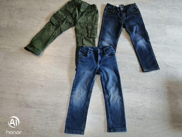 Spodnie bojówki 110-116, jeansy wójcik, jeans lupilu