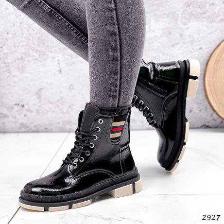 НОВИНКА!!!Ботинки женские Dewi черные ТОП!!!На флисе Черевики жіночі