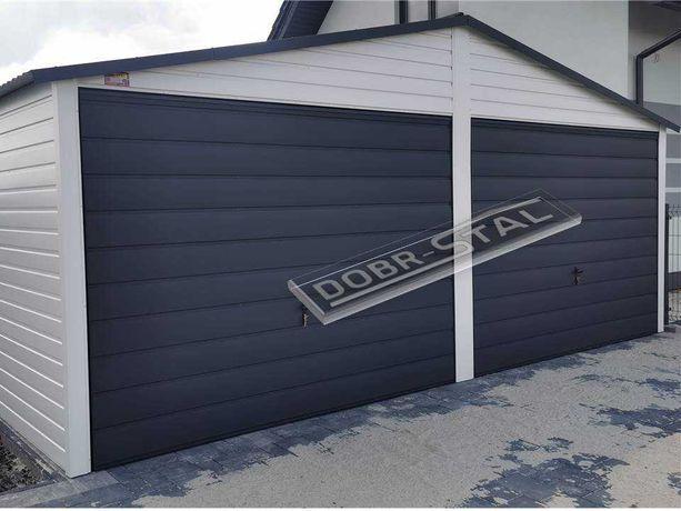 Garaż blaszany 6x6 akryl, Poziom, PROFIL