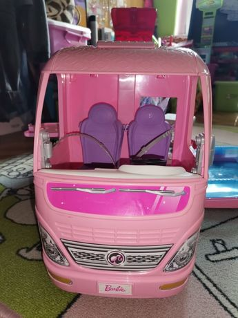Kamper Camper Barbie + lalki + GRATISY