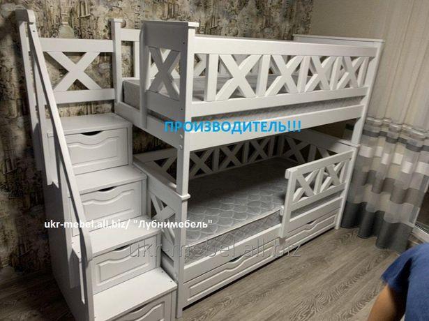 Двухъярусная деревянная кровать Оскар,(двоповерхове) ліжко