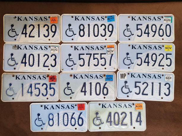 Zestaw 11 tablic rejestracyjnych USA Kansas